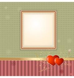 wallpaper retro frame vector image vector image