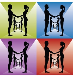 Holding by hands vector image