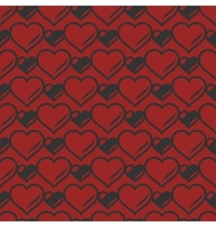Heart shaped seamless pattern vector