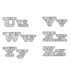anti coloring book alphabet the letter vector image