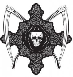 skull in cross vector image