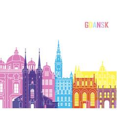 gdansk skyline pop vector image