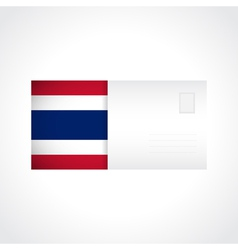 Envelope with thai flag card vector