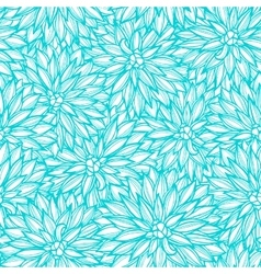 Seamless pattern with flowers dahlia vector