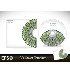 Cd cover design template vector