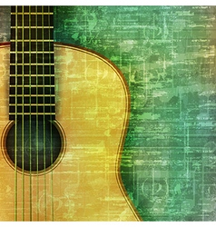Abstract music grunge green vintage background vector
