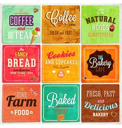 Retro bakery label set vector