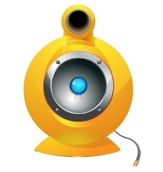 Hi-tech audio speaker vector