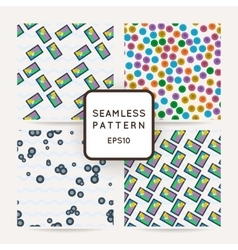 Set of four colorful seamless pattern vector image