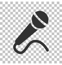 Microphone sign  Dark gray icon on vector image