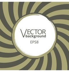 Swirling radial vortex background with round blank vector