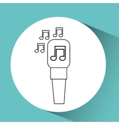 Microphone music note singer vector