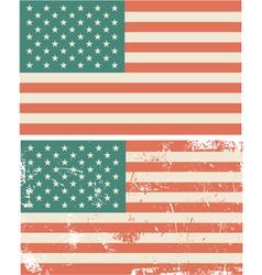 Vintage usa flag vector
