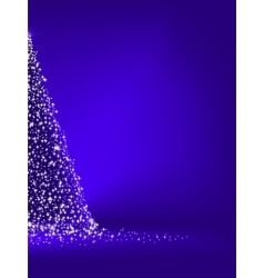 Abstract green christmas tree on blue EPS 10 vector image