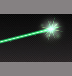 Abstract green laser beam magic neon light lines vector