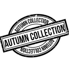 Autumn Collection rubber stamp vector image vector image
