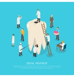 Bad tooth treatment vector