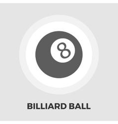 Billiard ball flat icon vector image vector image