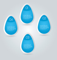 Business infographics template blue color vector