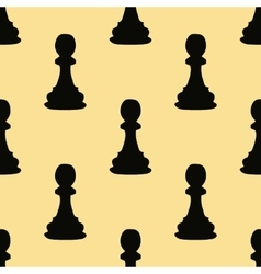 Chess pawn seamless pattern vector image