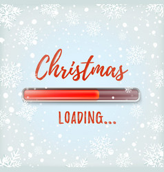 christmas loading abstract design vector image