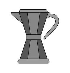 Color image cartoon metallic tea pot for hot vector
