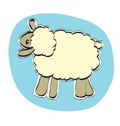 Cute Christmas or Eid al Adha sheep vector image