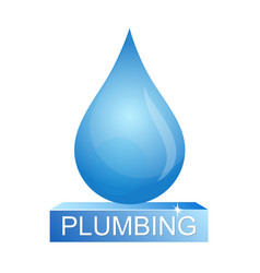drop of water plumbing vector image vector image