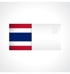 Envelope with thai flag card vector