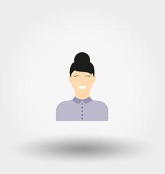 Girl secretary icon vector