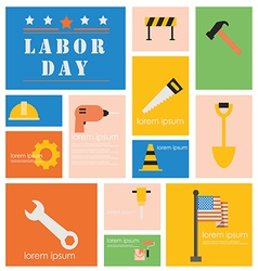 Icon Labor Day vector image vector image