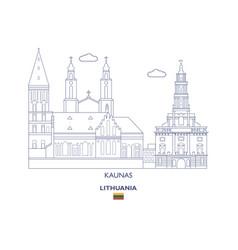 Kaunas city skyline vector