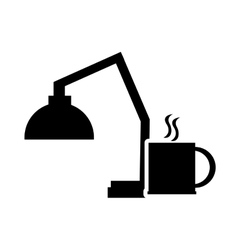 lamp and mug icon vector image