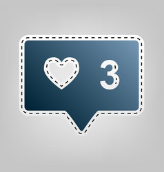 Like and comment sign blue icon with vector