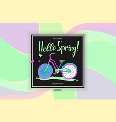 Poster spring sales vector