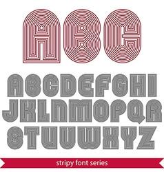 Rounded poster elegant stripy typeset best for vector