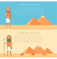 Set of pharaon banners vector image vector image