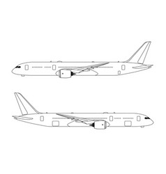 side view of airplane on white background flat vector image