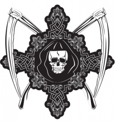skull in cross vector image vector image
