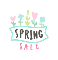 spring sale card vector image
