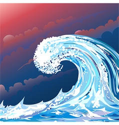 Storming weather vector image vector image