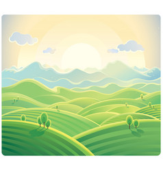 summer hill background 02 vector image vector image
