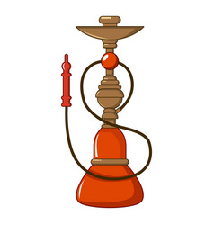 turkish hookah icon cartoon style vector image