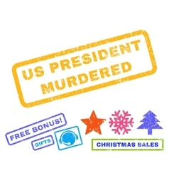 Us president murdered rubber stamp vector