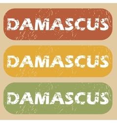Vintage damascus stamp set vector