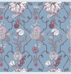 Vintage wallpaper background floral seamless vector