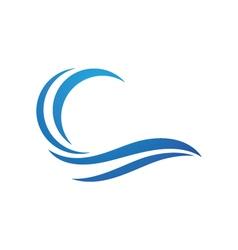 Wave logo vector