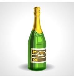 Soviet champagne bottle or sparkling wine vector image