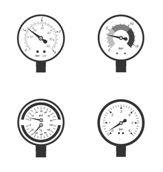 Set of manometers vector