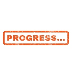 Progress rubber stamp vector